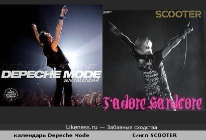 Сингл группы SCOOTER похож на календарь Depeche Mode