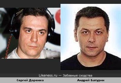 Сергей Доренко и диктор первого канала Андрей Батурин