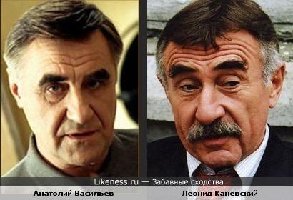 Анатолий Васильев и Леонид Каневский похожи