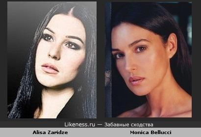 Alisa Zaridze похожа на Monica Bellucci