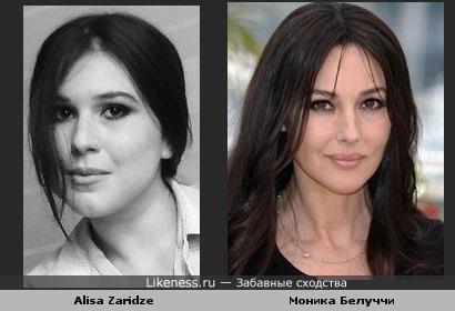 Alisa Zaridze похожа на Монику Белуччи