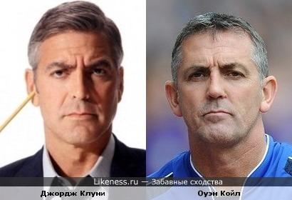 Джордж Клуни и тренер Болтона