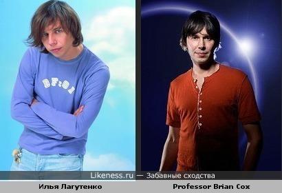 Илья Лагутенко похож на ведущего фильмов BBC Брайана Кокса