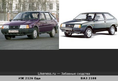 ИЖ 2126 Ода похож на ВАЗ 2108