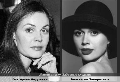 Анастасия заворотнюк похожа на Екатерину Андрееву