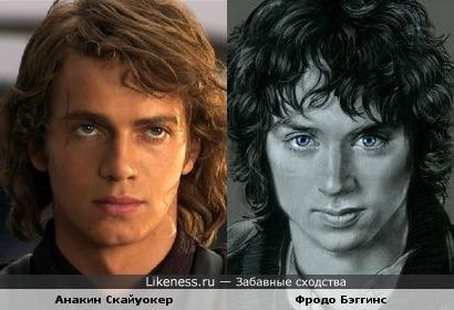 Рисованый Фродо и Анакин Скайуокер