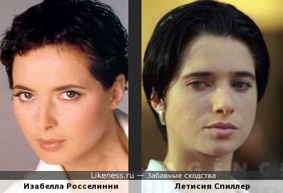 Изабелла Росселинни и Летисия Спиллер