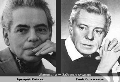 Аркадий Райкин похож на Глеба Стриженова