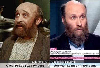 Отец Федор (Р.Быков) похож на сотрудника ИВИ РАН