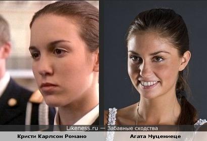 Кристи Карлсон Романо (актриса) Агата Муцениеце (русская актриса)