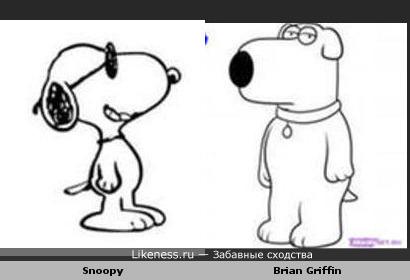 Снуппи похож на Брайна Гриффина