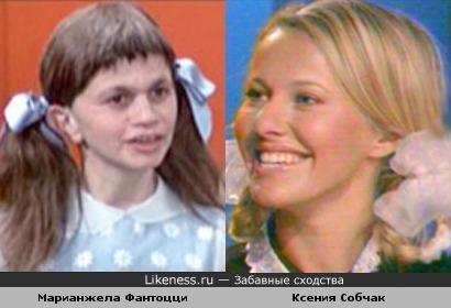 Марианжела Фантоцци похожа на Ксению Собчак