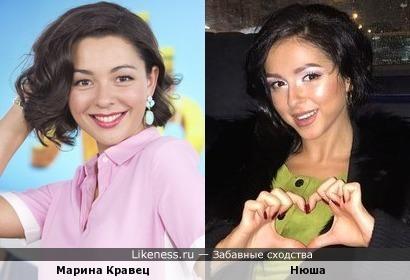 Марина Кравец похожа на певицу Нюшу