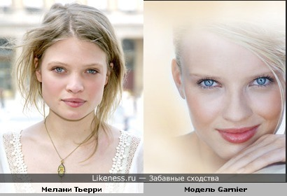 Mélanie Thierry похожа на модель рекламы Garnier