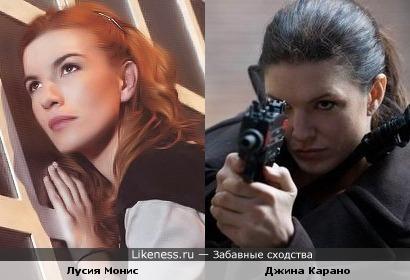 """Лусия Монис (""""Реальная Любовь"""") и Джина Карано (""""Нокаут"""")"""