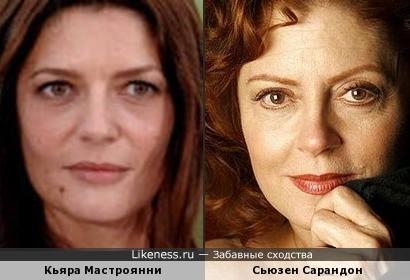 Кьяра Мастроянни и Сьюзен Сарандон