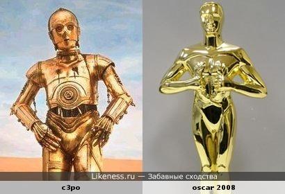Три-пи-о (Звездные войны) и статуэтка оскара