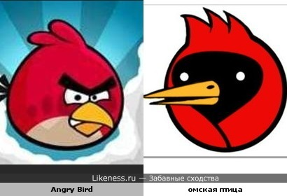 Злая птица похожа на Омскую