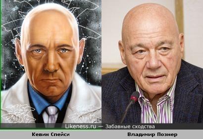 Кевин Спейси и Владимир Познер