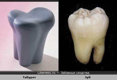 Табурет похож на зуб
