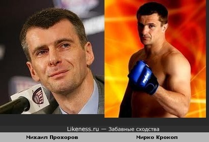 Прохоров и Крокоп похожи
