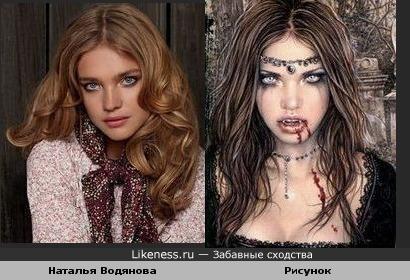 Наталья Водянова похожа на девушку на рисунке Виктории Франс из коллекции Favole