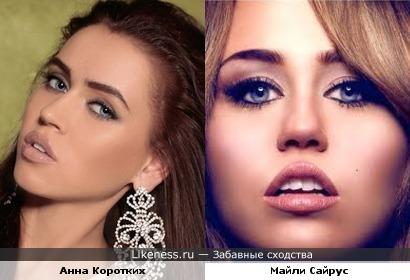 Участница Топ модель по русски похожа на Майли Сайрус
