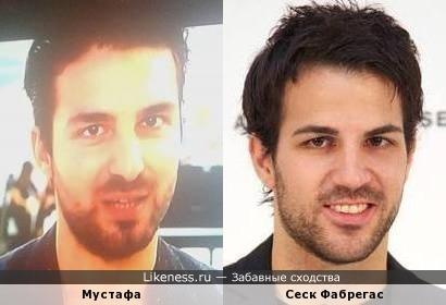 Участник немецкого Суперстара Мустафа похож на футболиста Фабрегаса