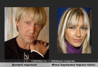 Дмитрий Харатьян похож на свою жену