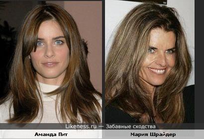 Аманда Пит похожа на жену Шварцнеггера