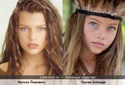Молодая Мила Йовович и 10-летняя модель похожи