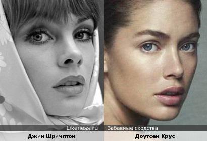 Модель 70-х и модель современности имеют похожие черты лица