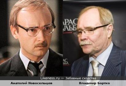 Андрей Мягков (в образе) похож на Владимира Бортка