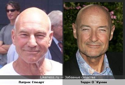Патрик Стюарт и Терри О`Куинн