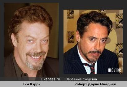 Тим Кэрри похож на Роберта Дауни