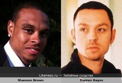 Shannon Brown похож на Darren Hayes