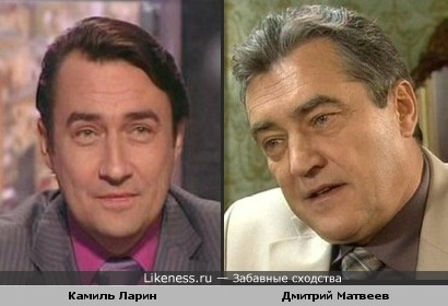 Дмитрий Матвеев и Камиль Ларин похожи