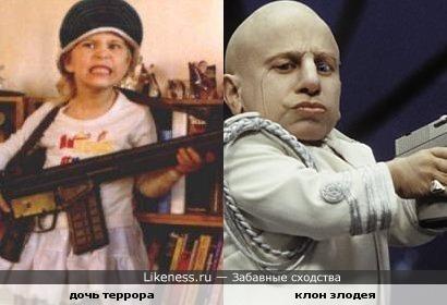 дочь террора похож на клона злодея