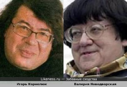 Между Корнелюком и Новодворской есть нечто общее!