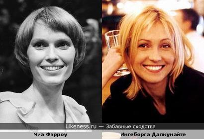 Очаровательные улыбки - Миа Фэрроу и Ингеборга Дапкунайте