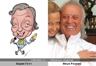Карикатура на Карела Готта напомнила Илью Резника