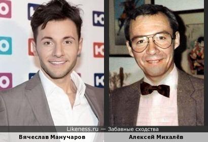 Вячеслав Манучаров и закадровый переводчик Алексей Михалёв