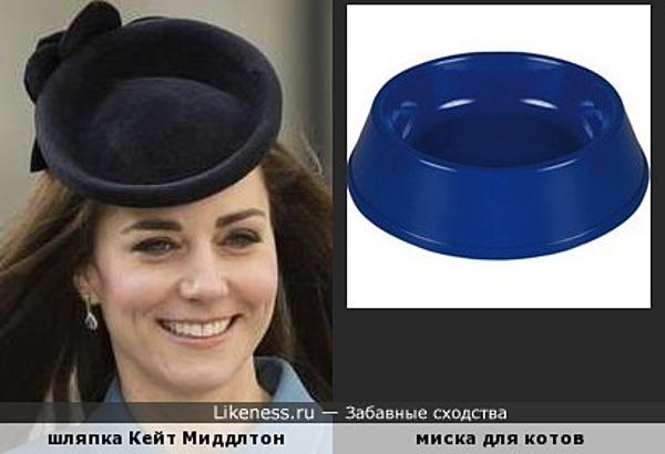 Шляпка Кейт Миддлтон напомнила миску для котов