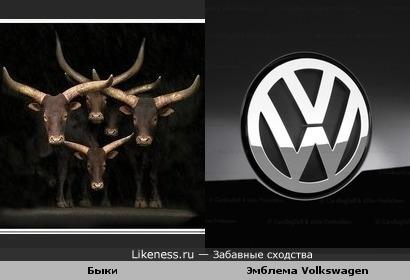 Быки, как эмблема Volkswagen.
