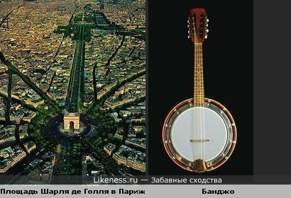 Площадь Шарля де Голля в Париже похода на Банджо.