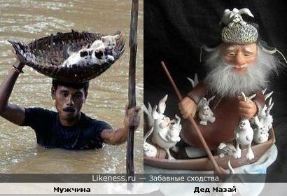 Дед Мазай и котята!