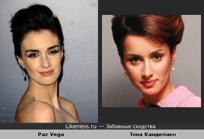 Paz Vega похожа здесь на Тину Канделаки