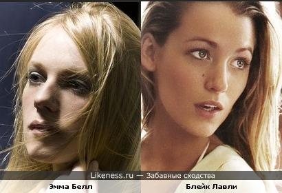 Эмма Белл похожа на Блейк Лайвли