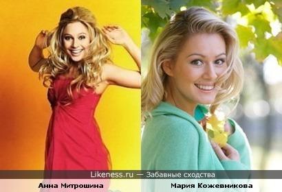 В сериале Анна очень похожа на Марию Кожевникову