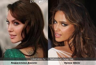 Ирина Шейк похожа на Анджелину Джоли